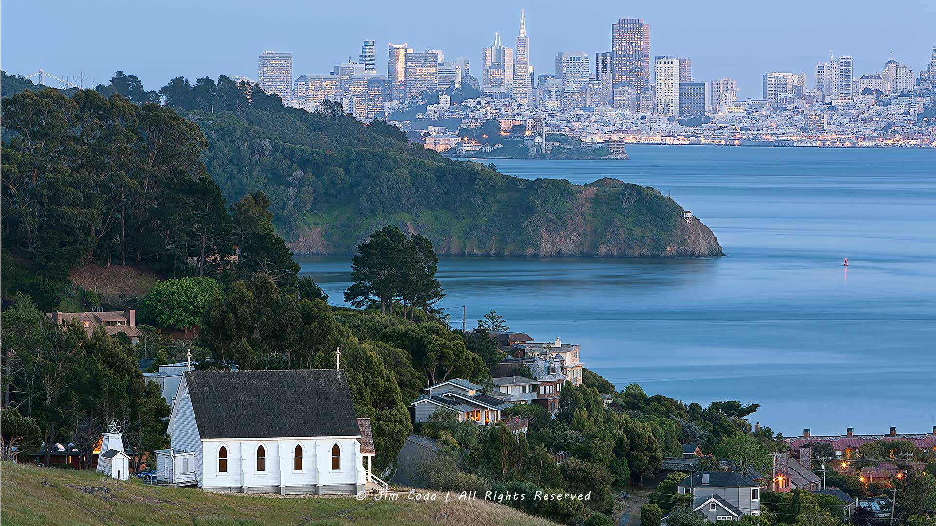 Old Saint Hilary's Church, Tiburon, California, Angel Island, San Francisco